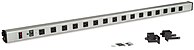 Kendall Howard 1918 3 004 F 48 inch LAN Station Power Strip Grey Poly Casing