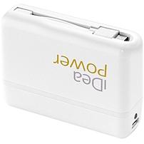 iDeaUSA BP-33W Portable Power Bank - 5200 mAh - White