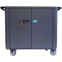 Datamation Systems SafeHarbor2 DS-SHC2-36 Laptop Cart - 5 Casters - Steel - 51\