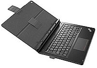 The ThinkPad Helix Folio Keyboard is a folio type case with an integrated keyboard that provides convenient, stylish functionality and production
