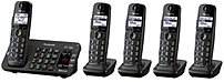 Panasonic KX TG465SK Link To Cell Bluetooth DECT 6.0 Cordless Phone 5 Handsets Black