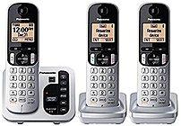 Panasonic KX-TG433SK DECT 6.0 3-Handset Cordless Phone - Black