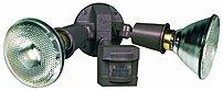 Heath Zenith HZ-5408-BZ 2 Lamp Motion Sensor Floodlight - Bronze - 12 Pack