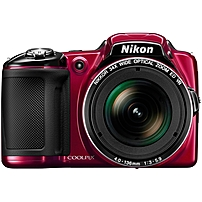 "Nikon Coolpix L830 16 Megapixel Compact Camera - Red - 3"" LCD - 16:9 - 34x Optical Zoom - 4x - Optical (IS) - 4608 x 3456 Image - 1920 x 1080 Video - HDMI - HD Movie Mode 26440 26440"