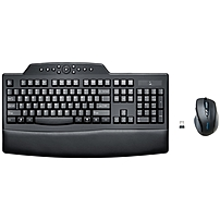 Kensington Pro Fit Keyboard & Mouse - Usb Wireless Rf Keyboard - Black - Usb Wireless Rf Mouse - 2 Button - Scroll Wheel - Black - Right-handed Only K72403us