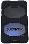 Griffin GB39914 Survivor for Samsung Galaxy Tab 4 8.0 - Tablet - Black - Polycarbonate, Silicone - 72' Drop Height