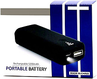 Tilt Wa-15tpp5200 Usb Portable Battery With Led Flashlight - Black
