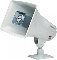 The Valcom VIP 130AL GY IC SIP Paging Horn Speaker is a large speaker that can interject announcements in great distance