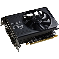 Evga Geforce Gt 740 Graphic Card - 1.09 Ghz Core - 2 Gb Gddr5 - Pci Express 3.0 X16 - 5000 Mhz Memory Clock - 128 Bit Bus Width - 4096 X 2160 - Fan Cooler - Directx 12, Opengl 4.4, Opencl - 1 X Hdmi - 2 X Total Number Of Dvi 02g-p4-3747-kr