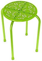 dar Living 38436212 Stackable Daisy Metal Stool 2 Pack Lime Green