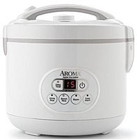 Aroma ARC 926D 12 Cup Digital Rice Cooker and Steamer White