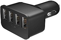 Just Wireless 705954034933 4-Port USB Car Charger - Black