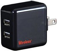 Just Wireless 04151 Dual USB Portable Charger - Black