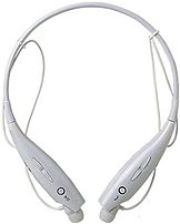 iPM IPMBLTNECK-W Noise-Cancelling Bluetooth Neckband Headset with Built-In Microphone - White