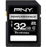 PNG P-SDHC32G4H-GE 32 GB Performance SDHC Class 4 Memory Card