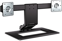 Image of HP AW664UT Adjustable Dual Monitor Stand