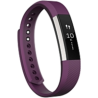 Fitbit Alta Smart Band - Wrist - Accelerometer - Calendar, Silent Alarm, Text Messaging - Sleep Quality, Calories Burned, Steps Taken, Distance Traveled - Bluetooth - Bluetooth 4.0 - 120 Hour - Plum - Elastomer Clasp, Stainless Steel - Health & Fitness, C Fb406pms