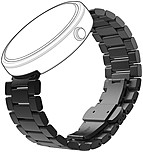 Complement your favourite outfit or style by dressing up your Motorola Moto360 Smart Watch with a stylish and contemporary all metal tri link design band