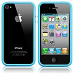 Apple MC670ZM/B iPhone 4S/4 Protective Bumper - Blue - Rubber/Plastic