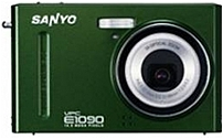 Sanyo VPC-E1090/G 10.0 Megapixel Digital Camera - 3x Optical/5x Digital Zoom - 2.7-inch LCD Display - Green