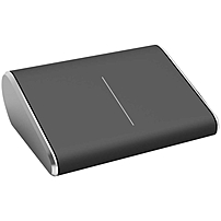 Microsoft Wedge Touch Mouse - Bluetrack - Wireless - Bluetooth - Black, Gray - 1000 Dpi - Computer, Tablet, Notebook - Touch Scroll - 2 Button(s) - Symmetrical 3lr-00009