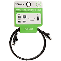 Belkin F2CP010-03WM-CS Cat.5e Network Cable - Category 5e for Network Device - 3 ft - 1 x RJ-45 Male Network - 1 x RJ-45 Male Network - Black