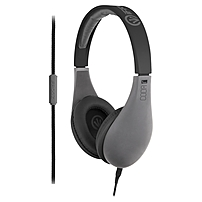 Ifrogz Audio Coda Headphones With Mic Gray - Stereo - Gray - Mini-phone - Wired - 32 Ohm - 20 Hz - 20 Khz - Over-the-head - Binaural - Circumaural - 3.94 Ft Cable If-cod-gry