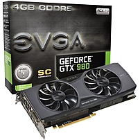 Evga Geforce Gtx 980 Graphic Card - 1.27 Ghz Core - 4 Gb Gddr5 - Pci Express 3.0 X16 - Dual Slot Space Required - 7010 Mhz Memory Clock - 256 Bit Bus Width - 4096 X 2160 - Sli - G-sync - Directx 12, Opengl 4.4, Opencl - 3 X Displayport - 1 X Hdmi - 1 X To 04g-p4-2983-kr