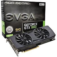 Evga Geforce Gtx 980 Graphic Card - 1.27 Ghz Core - 4 Gb Gddr5 - Pci Express 3.0 X16 - Dual Slot Space Required - 7010 Mhz Memory Clock - 256 Bit Bus Width - 4096 X 2160 - Sli - G-sync - Directx 12, Opengl 4.4, Opencl - 3 X Displayport - 1 X Hdmi - 1 X To 04g-p4-2983-kr