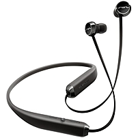 Sol Republic Shadow Earset - Stereo - Black, Steel Gray - Wireless - Bluetooth - 30 Ft - Earbud, Behind-the-neck - Binaural - In-ear 1140-01