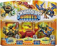 Activision Blizzard Inc 047875845947 Skylanders Giants Lightcore Gaming Figures 3-Pack: Prism Break, Eruptor, Drobot 047875845947