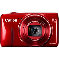 "Canon Powershot Sx600 Hs 16 Megapixel Compact Camera - Red - 3"" Lcd - 16:9 - 18x Optical Zoom - 4x - Optical (is) - 4608 X 3456 Image - 1920 X 1080 Video - Hdmi - Pictbridge - Hd Movie Mode - Wireless Lan 9342b001"