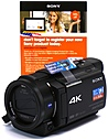 Sony FDR-AX33 18.9 Megapixels 4K Ultra HD Handycam Camcorder - 10x Optical/120x Digital Zoom - 3-inch LCD Display - 29.8 mm Wide-Angle Lens - Black