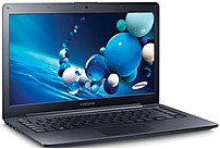 The ATIV Book 5 NP540U4E K04US Multi Touch 14 inch Ultrabook Laptop PC from Samsung measures in at 0.82 inch thin and weighs just 4.19 pounds