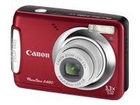 Canon 3477b001 Powershot A480 Point & Shoot A480 Digital Camera -  10 Mp - 3x Opitcal Zoom -  F/3.0-5.83  - 2.5-inch Lcd - Deep Red