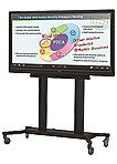 The PN SR780M Flat Panel Floor Cart offers the most complete mobile solution for today's interactive display system