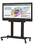 Sharp Pn-sr780m Flat Panel Cart For Sharp Aquos Board - Black