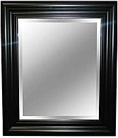 Enhance your living room decor with the MCS 044021739044 23 x 27 inch Beveled Wall Mirror