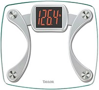 Taylor 015 02 3044 Digital Glass Scale with Red Read Out Clear Silver
