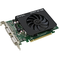 Evga Geforce Gt 730 Graphic Card - 700 Mhz Core - 2 Gb Ddr3 Sdram - Pci Express 2.0 X16 - Single Slot Space Required - 1400 Mhz Memory Clock - 128 Bit Bus Width - 4096 X 2160 - Directx 12, Opengl 4.4, Opencl - 1 X Hdmi - 2 X Total Number Of Dvi 02g-p3-2738-kr