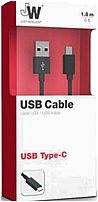 Just Wireless 05462 6 Feet USB C Charging Cable Black