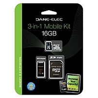Gigastone DA-3IN1C1016G-R 16 GB microSDHC - Class 10