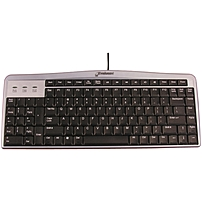 Evoluent 852153020028 Kb1 Silver Evoluent Slimline Keyboard - Cable Connectivity - Usb Interface - Compatible With Computer (pc, Mac)