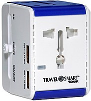 Conair V26339 All in one adapter with 2 USB ports and built in surge protector allows you to safely plug dual voltage appliances into foreign wall outlets