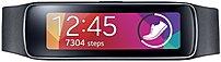 Samsung Gear Fit SM-R3500ZKAXAR Activity Tracker/Smartwatch - 1.84-inch Super AMOLED Display - 128 x 432 - Bluetooth 4.0 - Charcoal Black