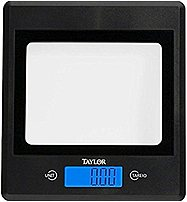 Taylor 3885-21 High Capacity Glass Kitchen Scale - Black