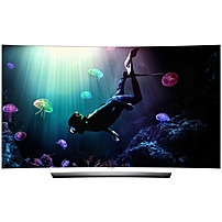 """LG - 55"""" Class - (54.6"""" Diag.) - OLED - Curved - 2160p - Smart - 3D - 4K Ultra HD TV - with High Dynamic Range - Silver OLED55C6P"""