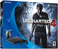 Sony 711719503965 500 GB PlayStation 4 Slim Uncharted 4 Gaming Console Bundle