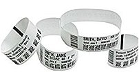 Zebra 10015355K-R Z-Band Ultra Soft Adult 1X11 Direct Thermal Wristband - 1 Pack