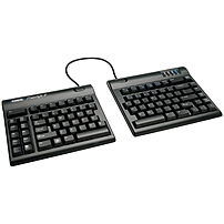 Kinesis Freestyle2 Ergonomic Keyboard - Cable Connectivity - Compatible With Mac - Black Kb820hmb-blk